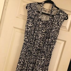 Loft Navy and White Dress. Size small.